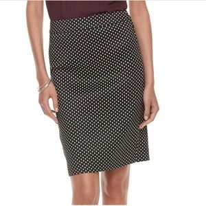 Elle Polka Dot Pencil Skirt